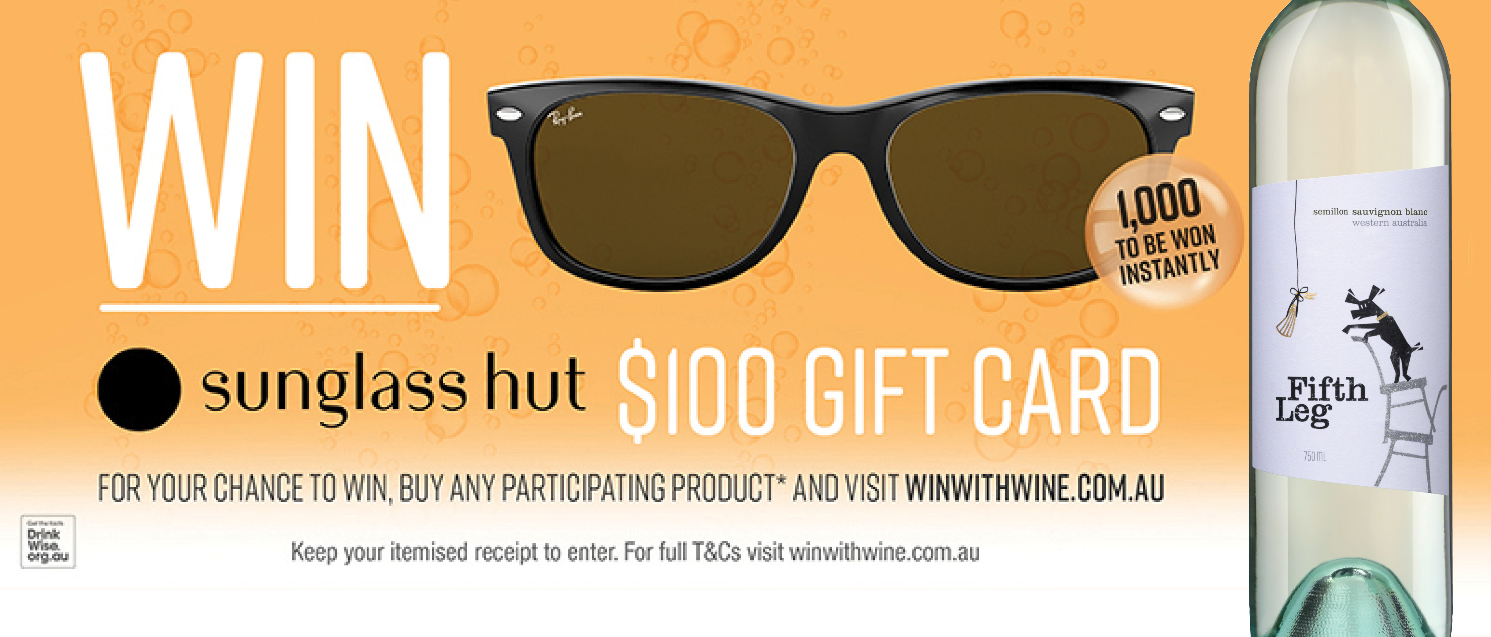 WIN SUNGLASS HUT $100 GIFT CARD