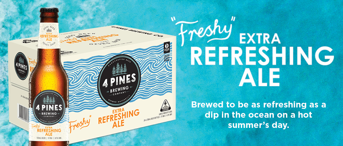NEW 4 Pines Refreshing Ale