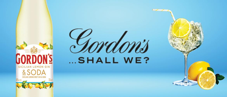 Gordon's Sicilian Gin & Soda premix bottles