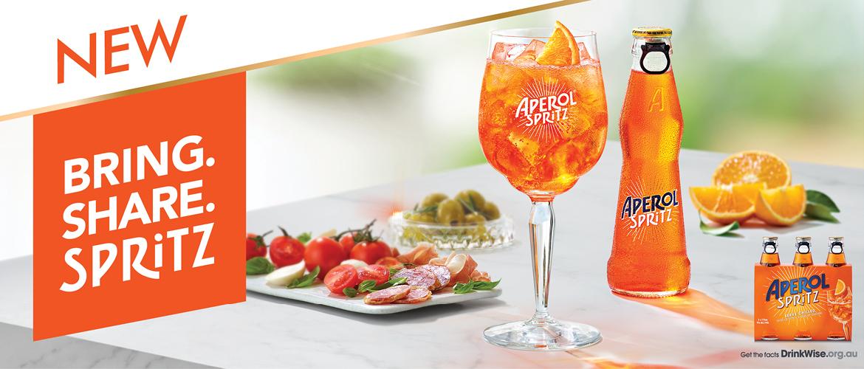 Aperol Spritz Ready to Drink bottles